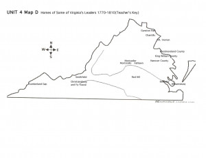 Revolutionary War Maps Virginia