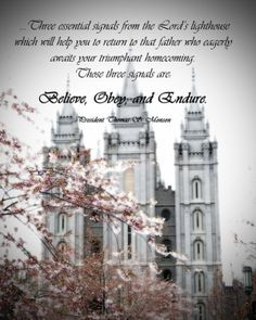 Quote from President Thomas S. Monson from the 2012 General Young ...