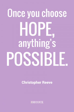 Christopher Reeve Quotes Poster