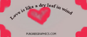 Love Quotes: Dry Leaf In Wind