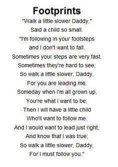 ... footprint poem got me a little choked up i must admit more footprint