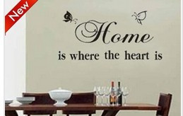 ... HOME IS WHERE YOUR HEART IS Vinyl Wall Quotes And Sayings Art Decor