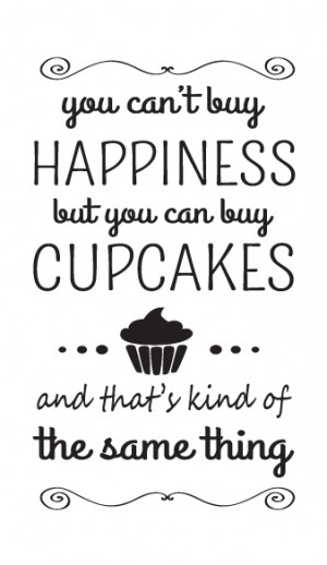 ... quote home kitchen wall stickers happiness cupcake wall art quote