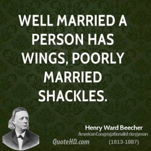 Henry Ward Beecher Marriage Quotes