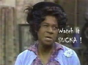 ... once with grady from sanford and son does that make me a celebrity