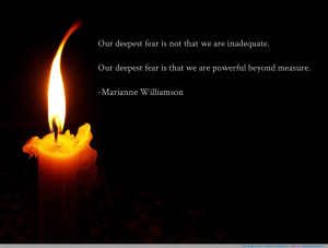 "Our deepest fear…"" Marianne Williamson motivational inspirational ..."