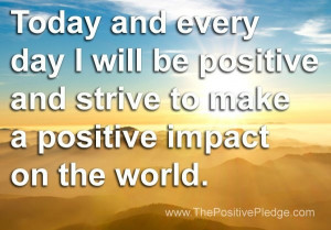 make a positive impact on the world