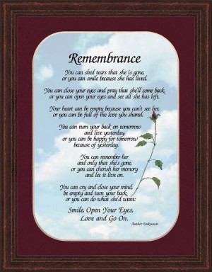 Quotes Remembering Loved Ones