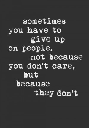 They Don't Care