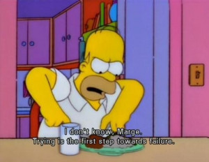 homer simpson, life, quote, reality, saying - inspiring picture on ...