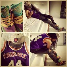 Patrick Ewing Sneaks. Dope Girl. Fresh Fit. Snap Back. More