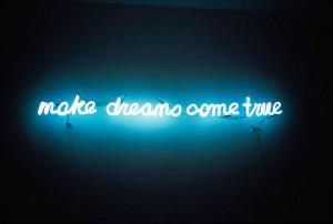 dreams, lights, neon, sign, words