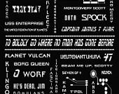 Star Trek Poster - Trekie print - Star Trek Movie Quotes - Original ...