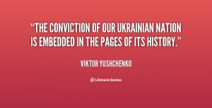 The conviction of our Ukrainian nation is embedded in the pages of its ...