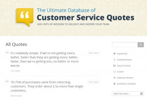 Instead, we opted to create the Customer Service Quotes Database ...