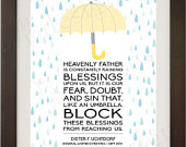 INSTANT DOWNLOAD / LDS Quote - Heavenly Father is constantly Raining B ...