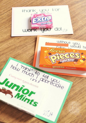 idea for appreciation day for the office staff/counselors/custodians ...