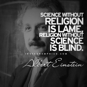 ... Without Religion Albert Einstein Quote graphic from Instagramphics