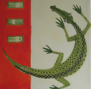 Crocodile Painting Fine Art