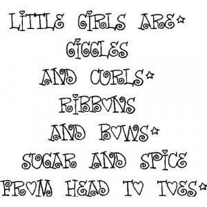 Little Girls Are Giggles And Curls....Girls Room Wall Quotes Words ...