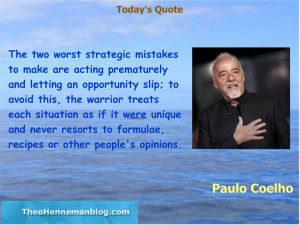 Paulo Coelho: Strategic mistakes