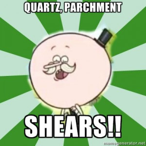 Quarts Parchment Shears! - regular-show Photo