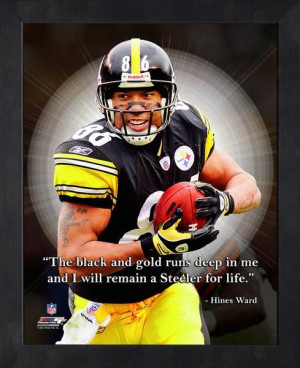 Pittsburgh Steelers Hines Ward Framed Pro Quote