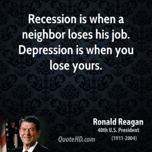 Recession When Neighbor Loses...