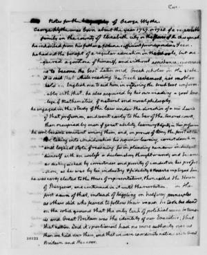 Description Thomas Jefferson George Wythe notes biography.jpg