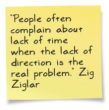 """... Of Direction Is The Real Problem,"""" Zig Ziglar ~ Management Quote"""