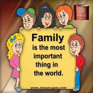 FAMILY is the most important thing in the world. #quotes