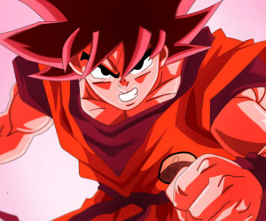 Free Red Goku Dragon Ball Z wallpaper for Samsung Epic