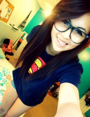 supermen t-shirt nerd swag girl