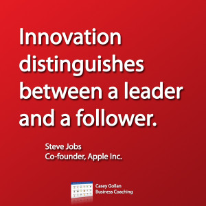 Steve Jobs Motivational Quote. Innovation Distinguishes.