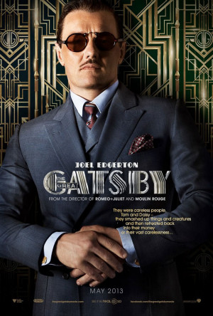 ... character poster for The Great Gatsby shows off a dapper Joel Edgerton