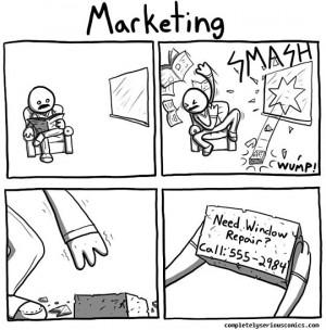 funny-marketing-brick-broken-window | « This Is One Way To Improve ...