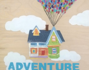 Adventure is Out There Acrylic Hand Painted Wall Hanging ...