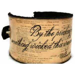 Leather Cuff Bracelets with Quotes