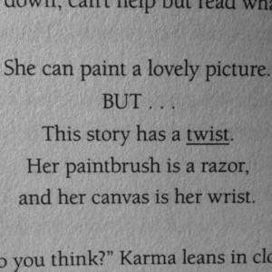 depression sad pain hurt self harm cutter cutting harm scissors poem ...