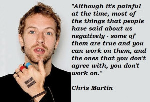 Chris martin famous quotes 2