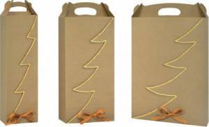 bottle Christmas carrier cardboard wine box 668A-670A