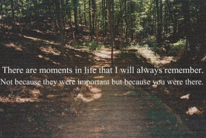 There are moments in life that I will always remember. Not because ...