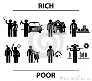 ... and poor people in term of spouse, transportation, property, and work