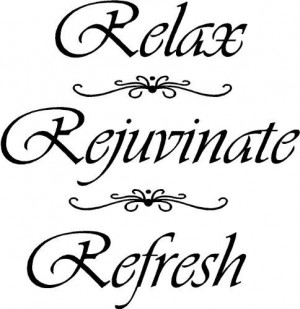 Refresh Wall Quote, Bathroom Quote, Wall Decor, Yoga Wall Quote quote ...
