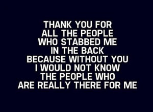 quotes about backstabbers tumblr