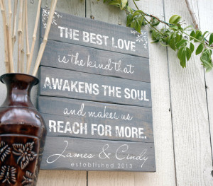 Personalized Wooden Sign Custom Quote Sign Rustic Wooden Sign With ...