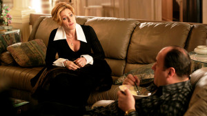 Carmela Soprano Sitting On Couch Talking To Tony picture