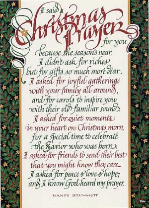 christmas prayer for you i said a christmas prayer for you