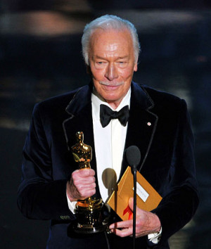 Actor Christopher Plummer accepts the Best Supporting Actor Award for ...