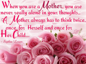 Birthday Quotes And Greetings: Mother Quotes With Pink Rose Flowers ...